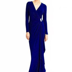 Ralph Lauren Evening V-Neck Royal Blue Gown